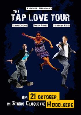 Zuletzt im Studio Claquette zu Gast: Travis Knights, Tanya Rivard und Sebastian Weber mit ihrem Workshop-Projekt TAP LOVE TOUR 2013